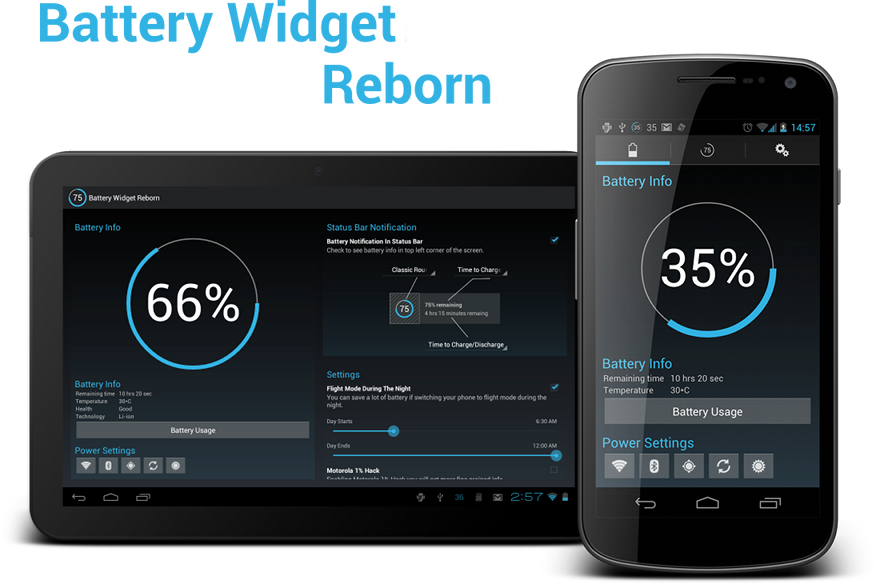 battery widgets for android